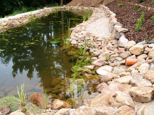 realizace zahradního jezírka 09